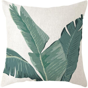 Her Shop pillow case 45x45 and 30x50 / a1 Tropical Plants Palm Leaf Cushion Cover