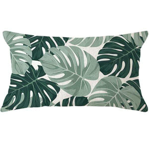 Her Shop pillow case 45x45 and 30x50 / a11 Tropical Plants Palm Leaf Cushion Cover
