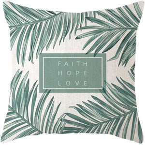 Her Shop pillow case 45x45 and 30x50 / a6 Tropical Plants Palm Leaf Cushion Cover
