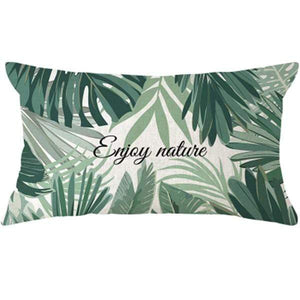 Her Shop pillow case 45x45 and 30x50 / a9 Tropical Plants Palm Leaf Cushion Cover