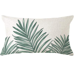 Her Shop pillow case 45x45 and 30x50 / a10 Tropical Plants Palm Leaf Cushion Cover