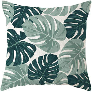 Her Shop pillow case 45x45 and 30x50 / a2 Tropical Plants Palm Leaf Cushion Cover