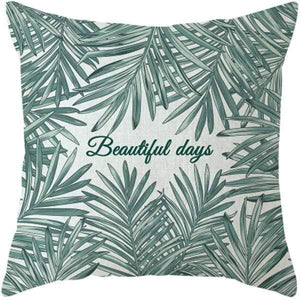 Her Shop pillow case 45x45 and 30x50 / a7 Tropical Plants Palm Leaf Cushion Cover
