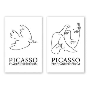Her Shop poster A4 21x30cm NO Frame / 2 Pcs Set A1 A2 A3 A4 A5 Canvas Painting Picasso Abstract Peace Dove Poster