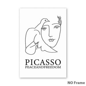 Her Shop poster 25x35cm NO Frame / 2 A1 A2 A3 A4 A5 Canvas Painting Picasso Abstract Peace Dove Poster