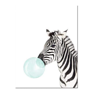 Her Shop poster 15x20cm No Frame / Picture 7 Baby Animal Zebra Giraffe Canvas Poster