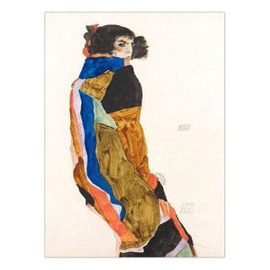 Her Shop Posters 13x18cm NO Frame / K05426 Austrian Egon Schiele Oil Paintings Posters