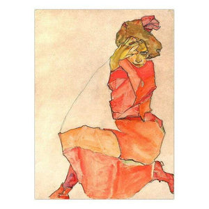 Her Shop Posters 13x18cm NO Frame / K05423 Austrian Egon Schiele Oil Paintings Posters
