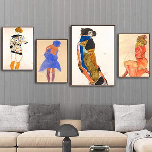 Her Shop Posters Austrian Egon Schiele Oil Paintings Posters