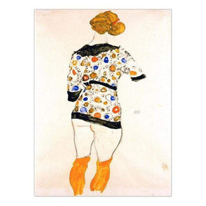 Her Shop Posters 13x18cm NO Frame / K05383 Austrian Egon Schiele Oil Paintings Posters