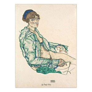 Her Shop Posters 13x18cm NO Frame / K05430 Austrian Egon Schiele Oil Paintings Posters