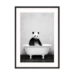Her Shop Posters 30x40cm No Frame / Picture 1 Baby Animal in Bathtub Posters