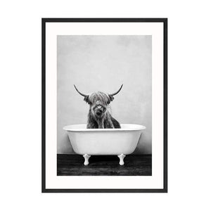 Her Shop Posters 30x40cm No Frame / Picture 9 Baby Animal in Bathtub Posters