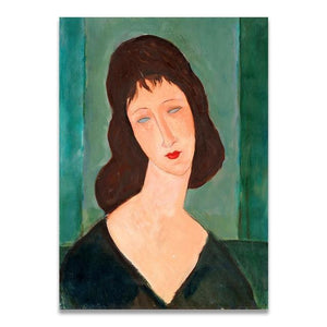 Her Shop Posters 10x15cm   No Frame / D Classic Amedeo Modigliani Artwork Collection Abstract Canvas Print Painting Poster