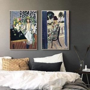 Her Shop Posters Henri Matisse Afternoon Tea Girl Fauvism Bedroom Canvas Paintings