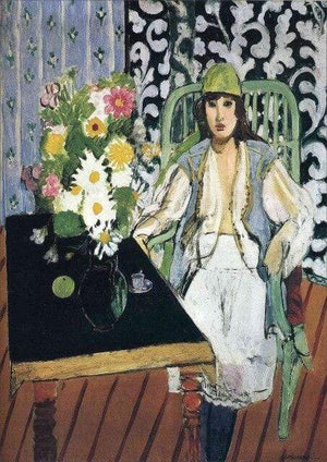 Her Shop Posters Canvas75x100cm / violet Henri Matisse Afternoon Tea Girl Fauvism Bedroom Canvas Paintings