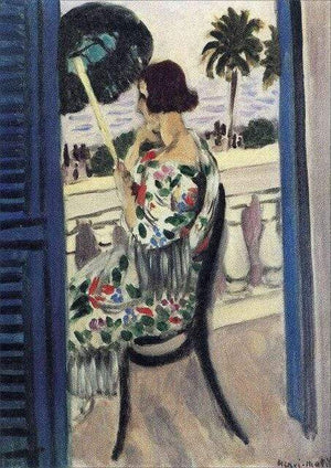 Her Shop Posters A4kraftFramed / White Henri Matisse Afternoon Tea Girl Fauvism Bedroom Canvas Paintings