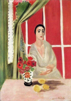 Her Shop Posters A4kraftFramed / Plum Henri Matisse Afternoon Tea Girl Fauvism Bedroom Canvas Paintings