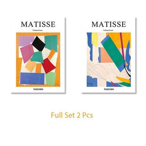 Her Shop Posters 10x15cm   No Frame / Full Set 2 Pcs Matisse Abstract Geometric Colorful Painting Posters