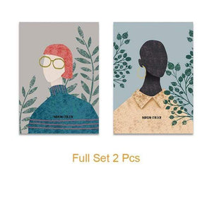 Her Shop Posters 20x25cm   No Frame / Full Set 2 Pcs Nordic Modern Simple Vogue Posters