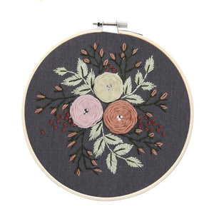 Easy Flower Embroidery DIY Kit