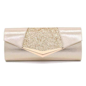 Her Shop Purse gold Fashion Crystal Sequin Evening Clutch Bags
