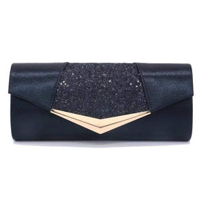 Her Shop Purse black Fashion Crystal Sequin Evening Clutch Bags