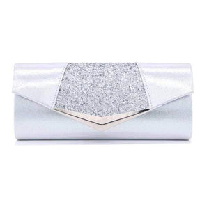 Her Shop Purse silver Fashion Crystal Sequin Evening Clutch Bags