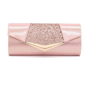 Her Shop Purse pink Fashion Crystal Sequin Evening Clutch Bags