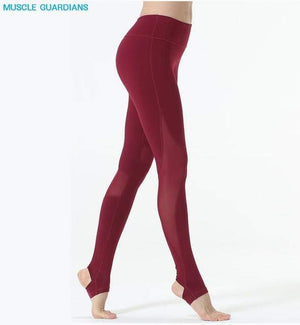 Her Shop rose red yoga pants / S Rose Red Yoga Pants