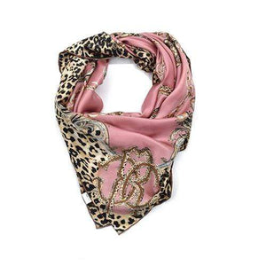 Her Shop Scarves Pink 100% Real Silk Scarf