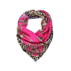 Her Shop Scarves Rose Red 100% Real Silk Scarf