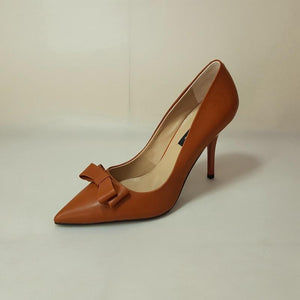 Her Shop Shoes Sexy Handmade cowhide Caramel color Elegant style office shoes women