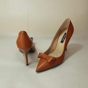 Her Shop Shoes Caramel color 7 CM / 5.5 / China Sexy Handmade cowhide Caramel color Elegant style office shoes women