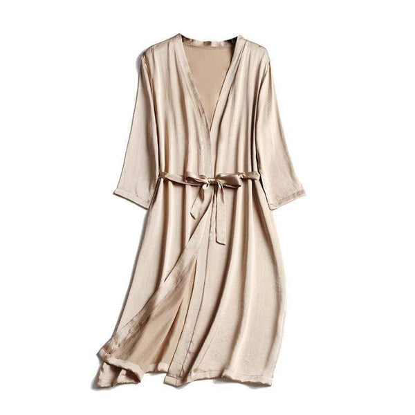 Her Shop Sleepwear 100% Natural Silk Healthy Sleep Robes For Women