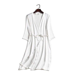 Her Shop Sleepwear White / One Size 100% Natural Silk Healthy Sleep Robes For Women