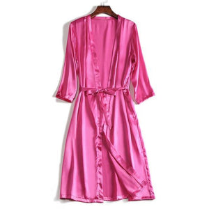 Her Shop Sleepwear Fuchsia / One Size 100% Natural Silk Healthy Sleep Robes For Women