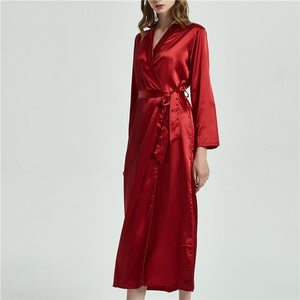 Her Shop Sleepwear Silk Robe Long Nightwear