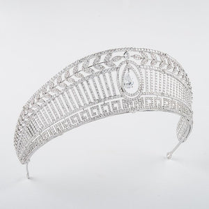 Her Shop Spanish Royal Queen Princess Cubic Tiaras Wedding Crown