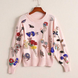 Her Shop sweater pink sweater / L Winter Women Luxury Brand Runway Sweater