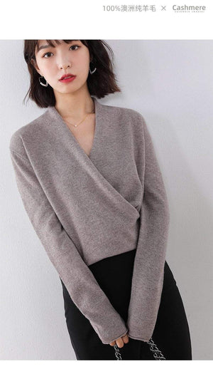 Her Shop Sweaters & Hoodies 100% Pure Wool Knitted Sweater