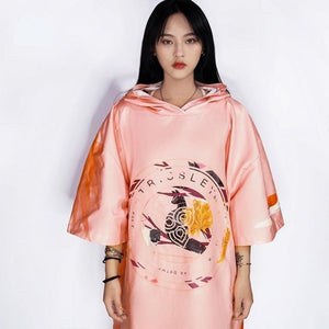 Her Shop Swimwear Pink Microfiber Unisex Beach Robe/Swimming Bath Suit for Kayaking Bathing Vacation-Sun Wind Protection