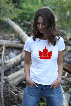 Her Shop T-shirts FM57-FSTWH- / L Canada Day Leisure Comfortable Tshirt