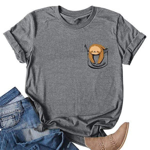 Her Shop T-shirts Gray4 / XXL Funny Banana Print and more Casual Cotton T-Shirts
