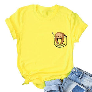 Her Shop T-shirts yellow4 / XXL Funny Banana Print and more Casual Cotton T-Shirts