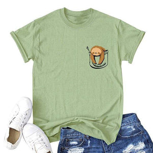 Her Shop T-shirts Army Green4 / XXL Funny Banana Print and more Casual Cotton T-Shirts