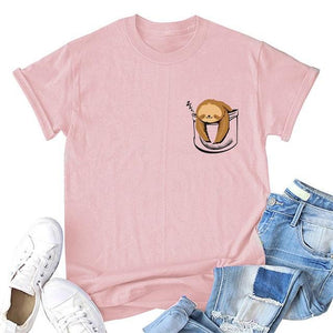 Her Shop T-shirts Pink4 / XXL Funny Banana Print and more Casual Cotton T-Shirts