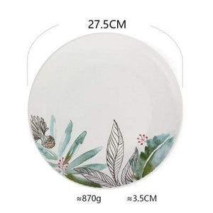 Her Shop Tableware C Ceramic Dinnerware Set Creative Breakfast Bowls Plates Cups Set
