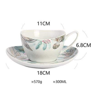 Her Shop Tableware F Ceramic Dinnerware Set Creative Breakfast Bowls Plates Cups Set