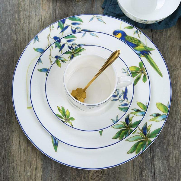 Her Shop Tableware Cutlery Hand-painted Bird Porcelain Dinning Set